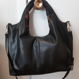 Handbags - Large shoulder and crossbody bag real leather
